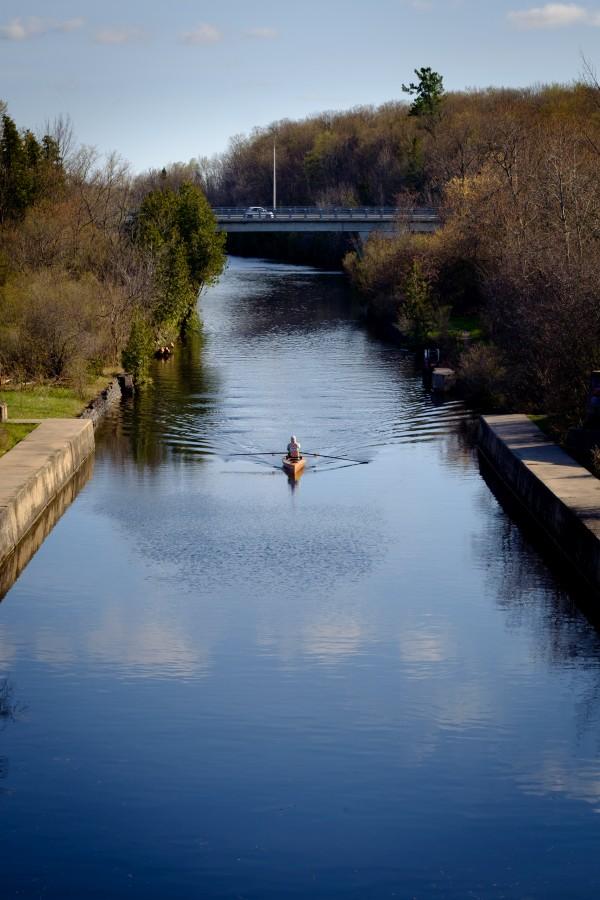 Canon FD 50mm - Fuji XT1 (Velvia) - Peterborough - Rowing in Trent Severn