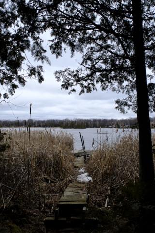 Canon FD 24mm F2.8 - Early Spring Ice & Dock - Sandy Bay Creek - Buckhorn Lake