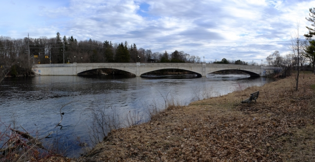 Canon FD 24mm F2.8 - 3 Frame Panorama - Peterborough - Parkhill Bridge